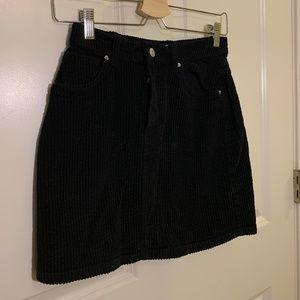 ZARA mini skirt, black corduroy